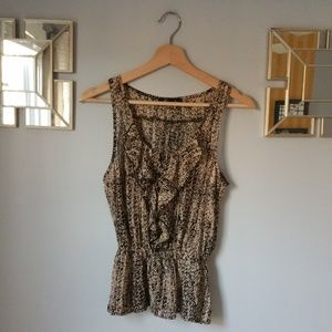 4/$30 - Forever 21 Sleeveless Ruffle Top Size S